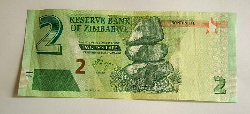 Zim 2 Dollar Bond Note