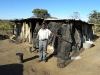 This man burns tyres and makes diamond mesh wire out of the waste