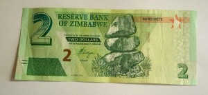 Zimbabwe $2 Bond Note